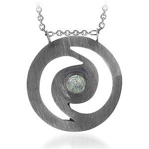 BRC Design Gümüş Aquamarin Taşlı Kolye