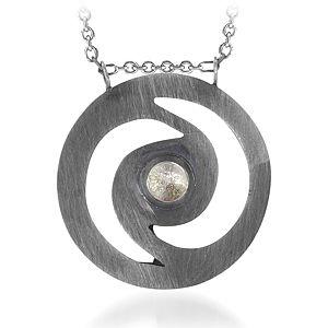 BRC Design Quartz Taşlı Gümüş Kolye