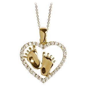 Myra Gold Bebek Ayaklı Kalp Kolye