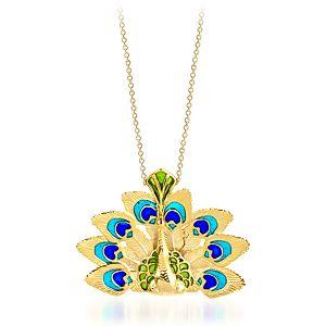 Vanilya Tasarım Art Nouveau Mineli Tavus Kuşu Kolye