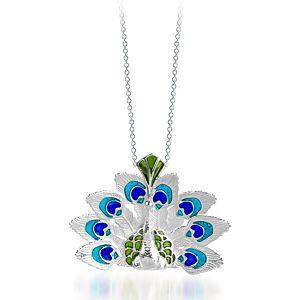 Vanilya Tasarım Art Nouveau Tavus Kuşu Gümüş Kolye