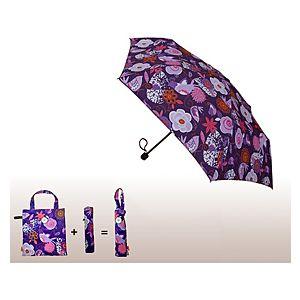 2B Trendy    Mor Çiçek Desenli Şemsiye