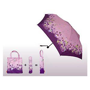 2B Trendy    Pembe Çiçek Desenli Şemsiye