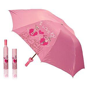 2B Trendy    Pembe Kalp Desenli Şemsiye