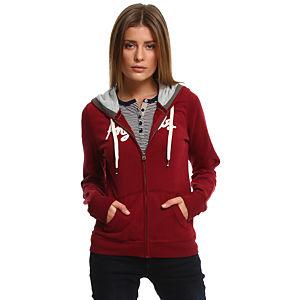 Colin's Kapüşonlu Bordo Sweatshirt