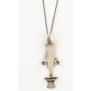 Afro Erkek Gümüş Kolye