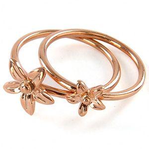 Altın Kaplama Çiçek Yüzük
