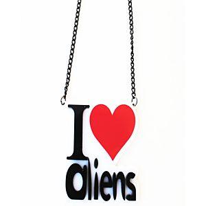 """""""I Love Aliens"""" Kolye"""