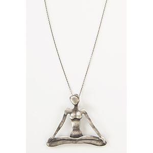 Meditasyon Gümüş Kolye