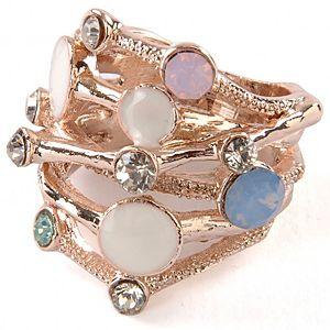 Renkli Opal Taşlı Yüzük
