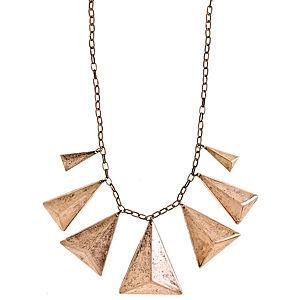 Bronz Piramit Kolye