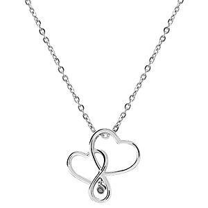Divas Diamond Pırlantalı Kalp Gümüş Kolye