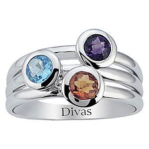 Divas Diamond Renkli Taşlı Yüzük