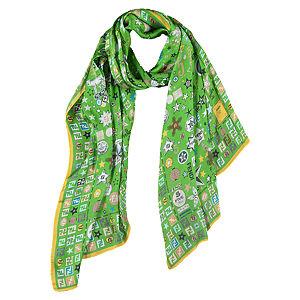 Fendi Yeşil Yıldızlı Şal