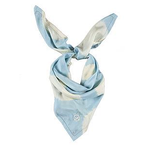 Giorgio Armani Batik Desenli Mavi İpek Fular