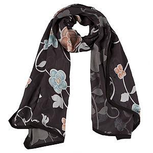 Giorgio Armani Çiçekli Siyah Şal