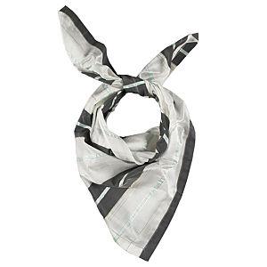 Giorgio Armani Çizgili Beyaz/Gri Fular