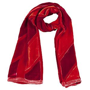Giorgio Armani Kadife Kırmızı/Turuncu Şal
