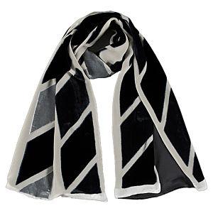 Giorgio Armani Siyah/Gri Kadife Şal