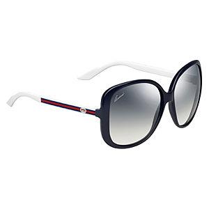 Gucci Lacivert/Beyaz Güneş Gözlüğü