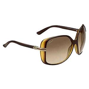Gucci Sarı/Kahverengi Güneş Gözlüğü