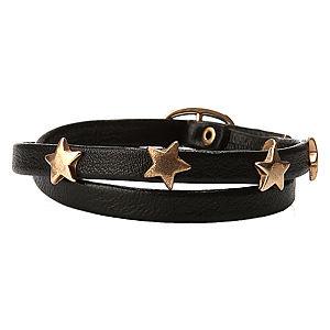 Loopie Love Yıldızlı Siyah Bileklik
