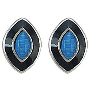 Melin Paris Siyah/Mavi Küpe