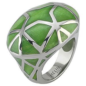 Melin Paris Yeşil Desenli Yüzük