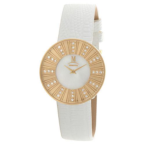 Momentus Beyaz/Altın Rengi Saat