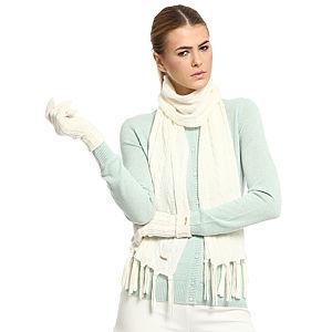 Silk & Cashmere Krem Rengi Kaşmir Atkı