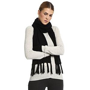 Silk & Cashmere Siyah Kaşmir Atkı