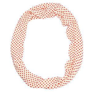 Vero Moda Kırmızı Puantiyeli Krem Rengi Atkı