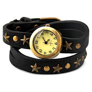 Yıldızlı Siyah Dolama Saat
