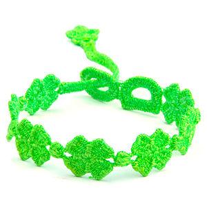 Yoncalı Yeşil Bileklik