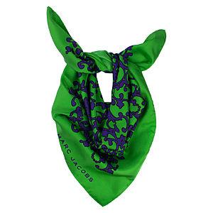 Marc Jacobs Çiçekli Yeşil/Mor Fular