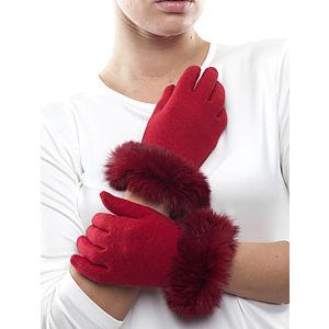 Silk and Cashmere Kırmızı Eldiven