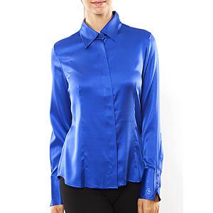 Silk and Cashmere Saks Uzun Kollu Bluz / Gömlek
