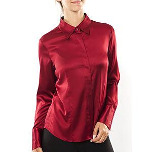 Silk and Cashmere Şarap Uzun Kollu Bluz / Gömlek
