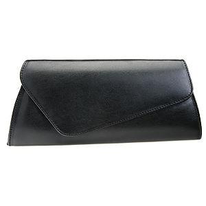 Sugar Bag Asimetrik Kapaklı Deri Siyah Çanta