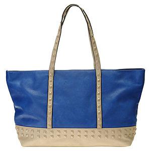 Sugar Bag Bej Zımbalı Mavi Omuz Çantası