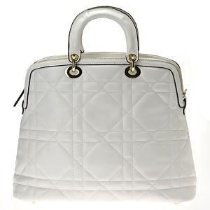 Sugar Bag Beyaz Baklava Desenli El Çantası