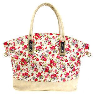 Sugar Bag Çiçek Desenli Bavul Çanta