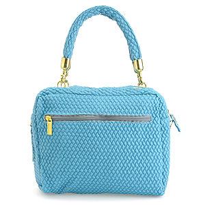 Sugar Bag Fermuarlı Çift Bölmeli Şık Mavi Çanta