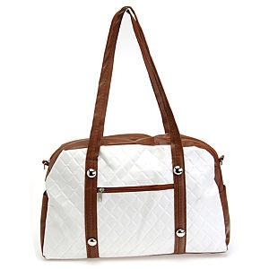Sugar Bag Kahverengi Beyaz Omuz Çantası