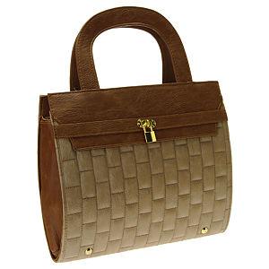 Sugar Bag Kahverengi Kilit Detaylı Çanta