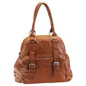 Sugar Bag Kahverengi Tokalı Fermuarlı Çanta