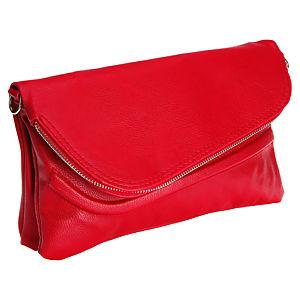 Sugar Bag Kırmızı Deri Clutch