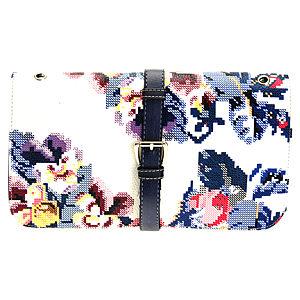 Sugar Bag Lacivert Mozaik Çiçekli Çanta
