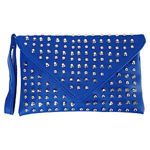 Sugar Bag Mavi Zımbalı Çapraz Çanta