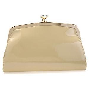Sugar Bag Rugan Elmas Taşlı Krem Rengi Çanta
